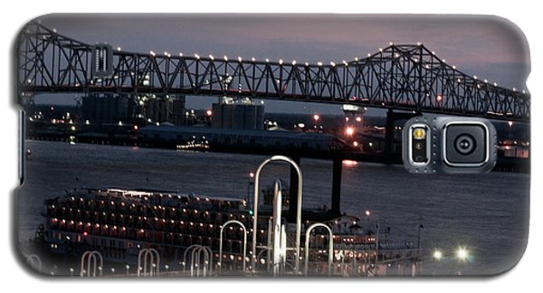 Galaxy S5 Case featuring the photograph Baton Rouge Bridge by Helen Haw