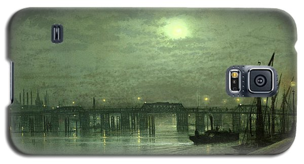 Battersea Bridge By Moonlight Galaxy S5 Case by John Atkinson Grimshaw