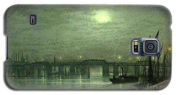 Battersea Bridge By Moonlight Galaxy S5 Case by John Atkinson Grimshaw