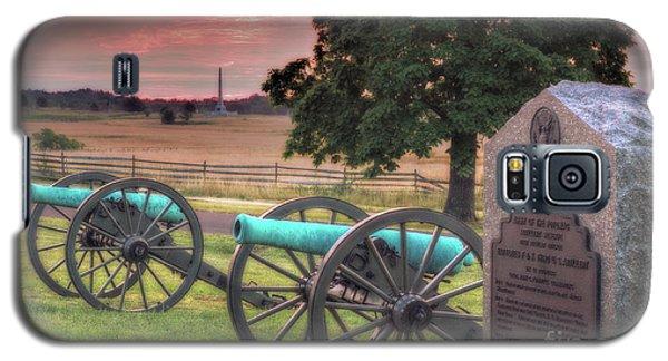 Battery F Cannon Gettysburg Battlefield Galaxy S5 Case by Randy Steele
