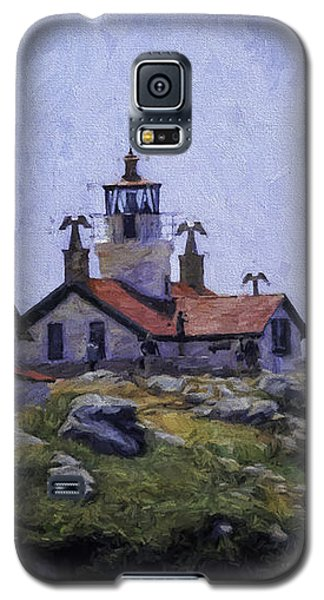 Galaxy S5 Case featuring the photograph Battery Point Lighthouse Crescent City California by Diane Schuster