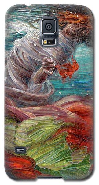Galaxy S5 Case featuring the painting Batyam by Mia Tavonatti