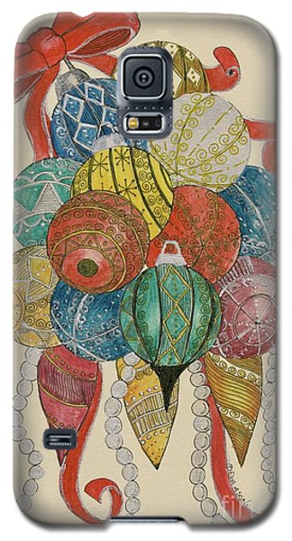Galaxy S5 Case featuring the painting Baubles by Eva Ason