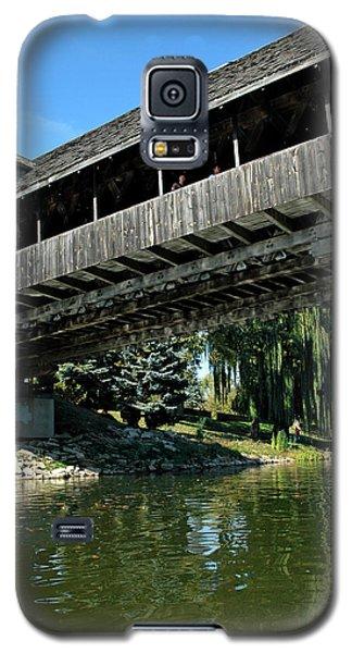 Galaxy S5 Case featuring the photograph Bavarian Covered Bridge by LeeAnn McLaneGoetz McLaneGoetzStudioLLCcom