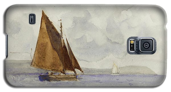 Galaxy S5 Case featuring the painting Bawley Running Up The Coast by Henry Scott Tuke
