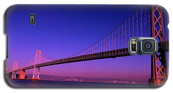 Galaxy S5 Case featuring the photograph Bay Bridge Sunset by Linda Edgecomb