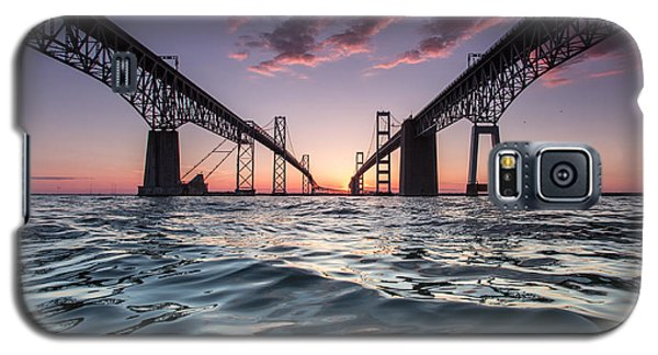 Galaxy S5 Case featuring the photograph Bay Bridge Twilight by Jennifer Casey