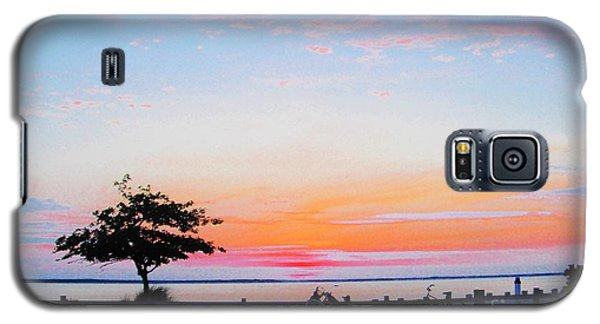 Galaxy S5 Case featuring the photograph Bay Sunset by Susan Carella