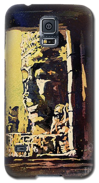 Galaxy S5 Case featuring the painting Bayon IIi- Cambodian Ruins, Angkor Wat by Ryan Fox