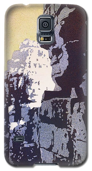 Galaxy S5 Case featuring the painting Bayon Temple- Angkor Wat, Cambodia by Ryan Fox