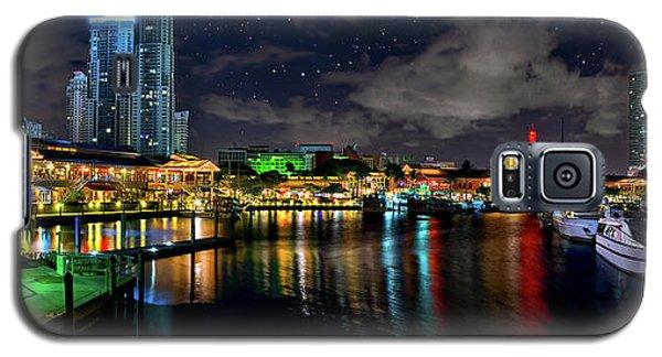Bayside Miami Florida At Night Under The Stars Galaxy S5 Case