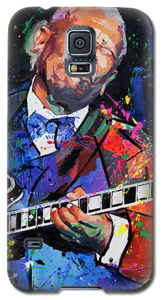 Galaxy S5 Case featuring the painting Bb King Portrait by Richard Day