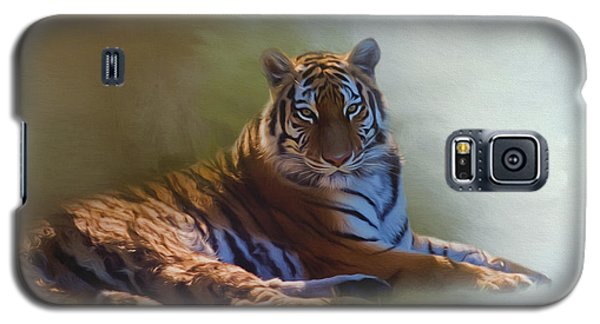Be Calm In Your Heart - Tiger Art Galaxy S5 Case by Jordan Blackstone