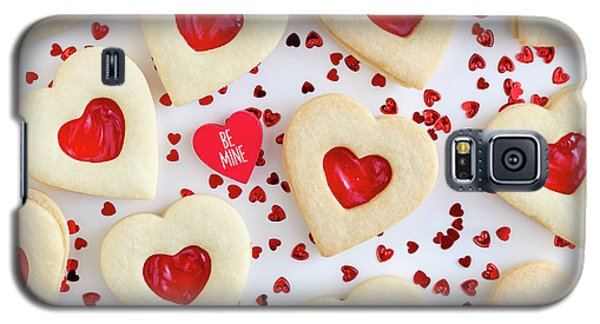Galaxy S5 Case featuring the photograph Be Mine Heart Cookies by Teri Virbickis