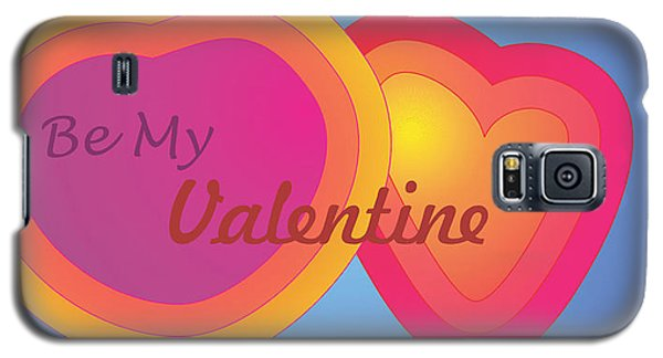 Be My Valentine Card Galaxy S5 Case by Sherril Porter