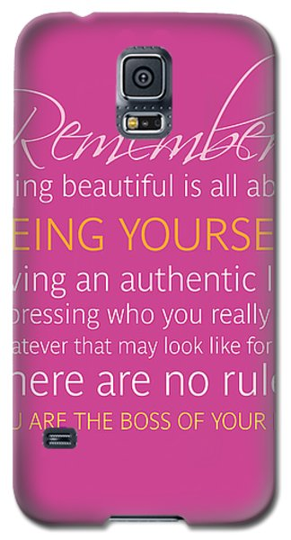 Be Yourself Galaxy S5 Case by Luzia Light