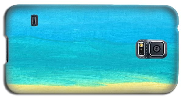 Beach Abstract Galaxy S5 Case by D Hackett