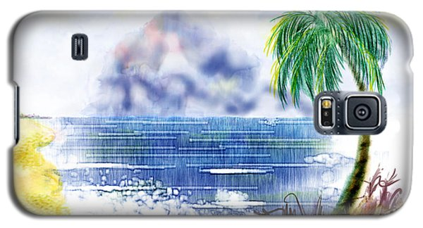 Beach And Palm Tree Of D.r.  Galaxy S5 Case