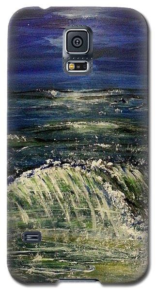Beach At Night Galaxy S5 Case