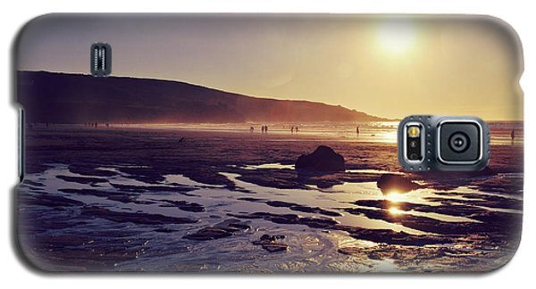 Galaxy S5 Case featuring the photograph Beach At Sunset by Lyn Randle