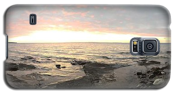 Beach At Sunset  Galaxy S5 Case by Paula Brown