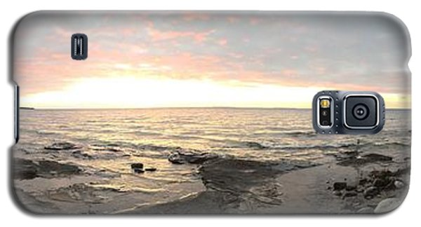 Galaxy S5 Case featuring the photograph Beach At Sunset  by Paula Brown