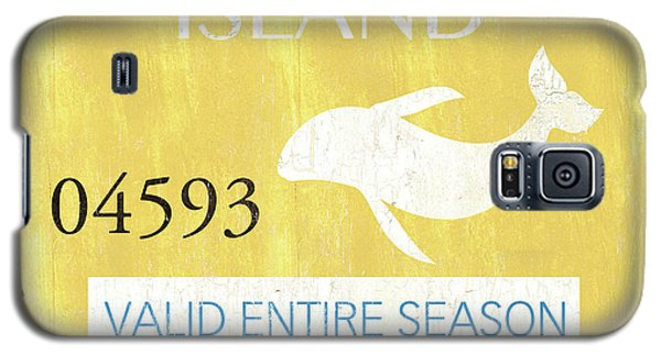 Dolphin Galaxy S5 Case - Beach Badge Long Beach Island 2 by Debbie DeWitt