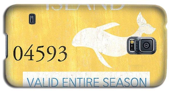 Dolphin Galaxy S5 Case - Beach Badge Long Beach Island by Debbie DeWitt