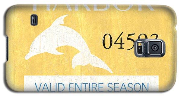 Dolphin Galaxy S5 Case - Beach Badge Stone Harbor by Debbie DeWitt
