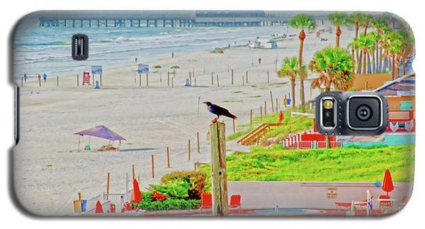 Beach Bird On A Pole Galaxy S5 Case