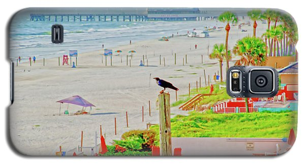 Beach Bird On A Pole Galaxy S5 Case