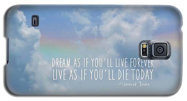 Beach Blue Quote Galaxy S5 Case
