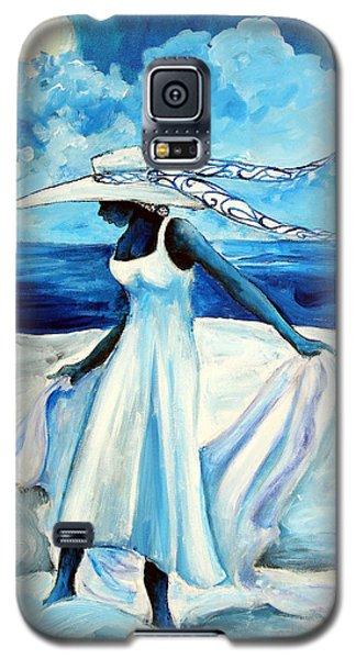 Galaxy S5 Case featuring the painting Beach Blues by Diane Britton Dunham