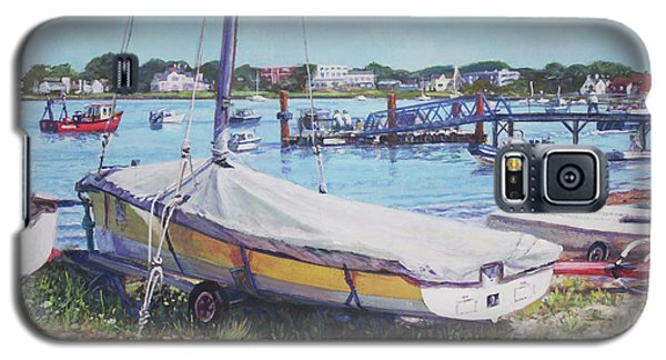 Galaxy S5 Case featuring the painting Beach Boat Under Cover by Martin Davey