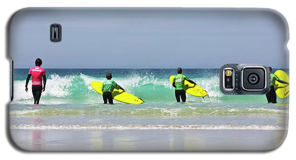 Galaxy S5 Case featuring the photograph Beach Boys Go Surfing by Terri Waters