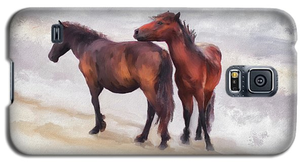 Galaxy S5 Case featuring the photograph Beach Buddies by Lois Bryan
