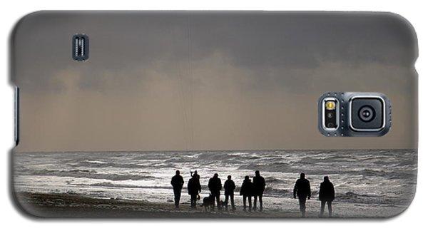 Beach Day Silhouette Galaxy S5 Case