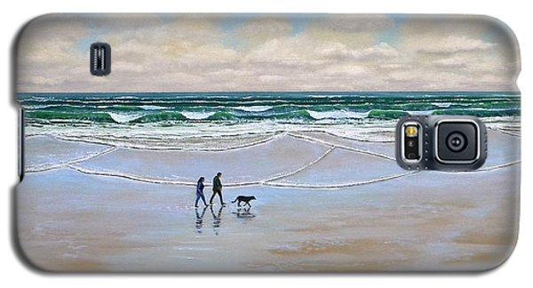 Beach Dog Walk Galaxy S5 Case