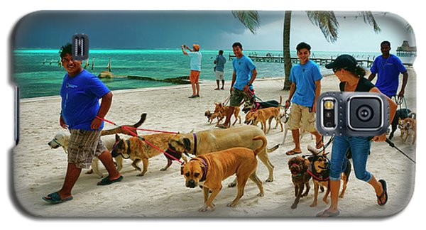 Beach Dog Walkers On Ambergris Caye, Belize Galaxy S5 Case