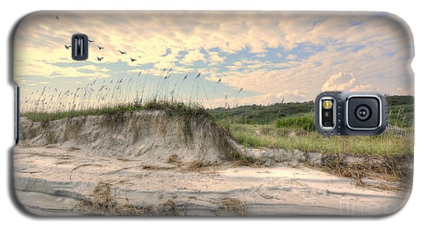 Beach Dunes And Gulls Galaxy S5 Case