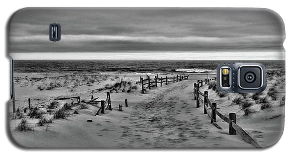 Galaxy S5 Case featuring the photograph Beach Entry In Black And White by Paul Ward