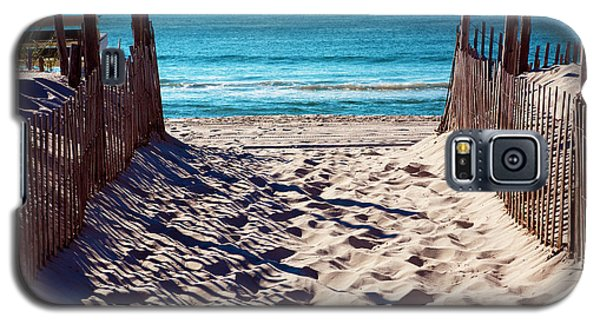 Beach Entry On Long Beach Island Galaxy S5 Case