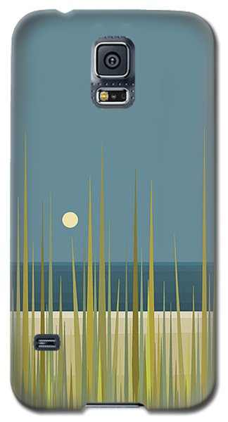 Galaxy S5 Case featuring the digital art Beach Grass And Blue Sky by Val Arie