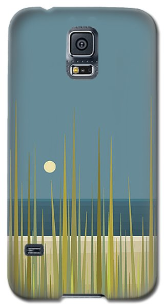 Beach Grass And Blue Sky Galaxy S5 Case