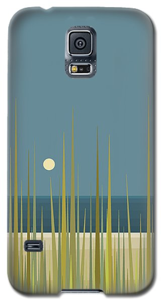 Beach Grass And Blue Sky Galaxy S5 Case by Val Arie