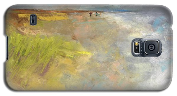 Galaxy S5 Case featuring the painting Beach Grasses by Frances Marino