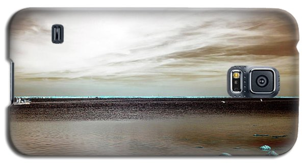 Galaxy S5 Case featuring the photograph Beach Haven Bay Infrared by John Rizzuto