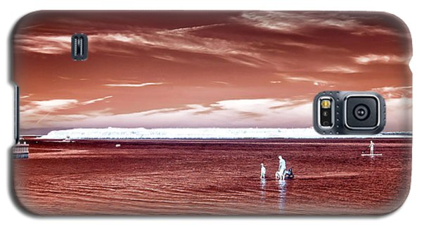 Galaxy S5 Case featuring the photograph Beach Haven Reds by John Rizzuto