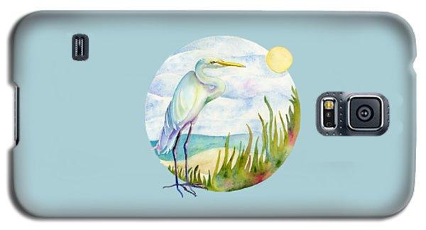 Beach Galaxy S5 Case - Beach Heron by Amy Kirkpatrick