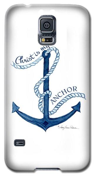 Beach House Nautical Ship Christ Is My Anchor Galaxy S5 Case
